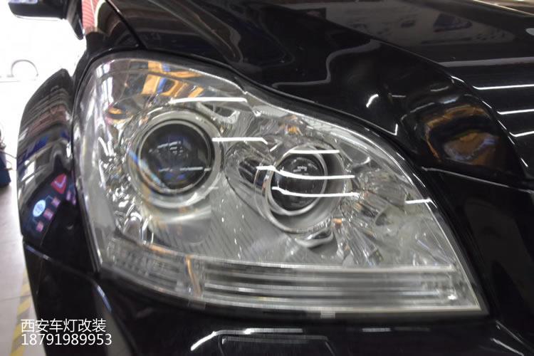 西安奔驰ml450汽车灯光改装店